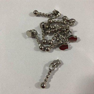 Cursor 3mm Bolinha Prata (5 unid)