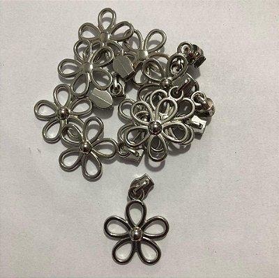 Cursor 3mm Florzinha Prata (5 unid)