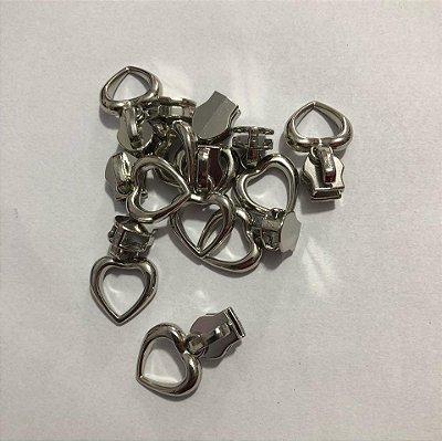 Cursor 5mm Coração Prata (5 unid)
