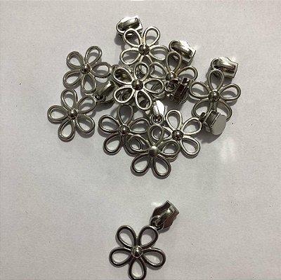 Cursor 5mm Florzinha Prata (5 unid)