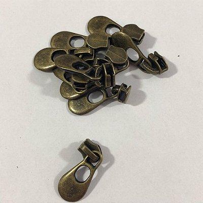 Cursor 5mm Gota Grande Ouro Velho (5 unid)