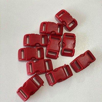 Fecho PVC 10mm (10 unidades) Vermelho