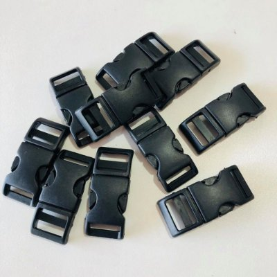 Fecho PVC 15mm (10 unidades) Preto