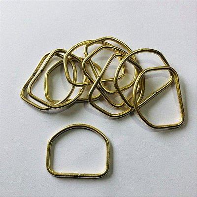 Meia Argola Dourada 4cm  (pct 10)