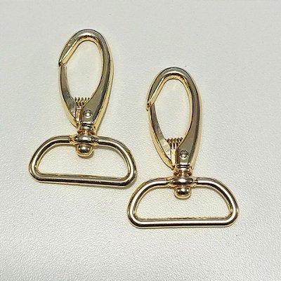 Mosquetão 3cm Luxo Dourado Cataforético (pct 2)