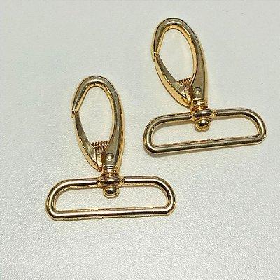 Mosquetão 4cm Luxo Dourado Cataforético (pct 2)