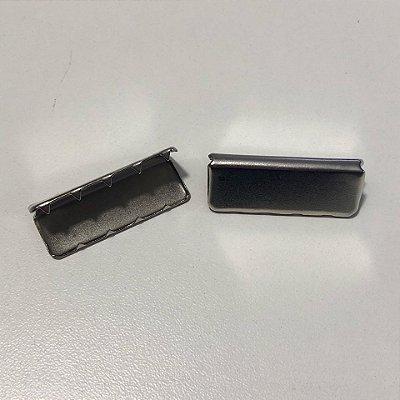 Ponteira de Alça Prata 4cm (2 unidades)