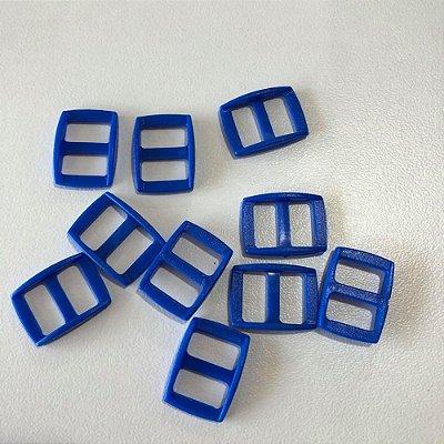 Regulador de alça PVC 10mm (10 unidades) Azul