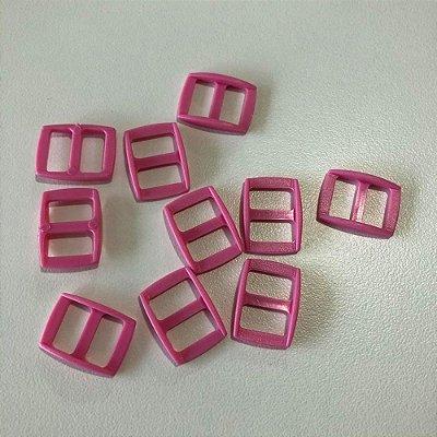 Regulador de alça PVC 10mm (10 unidades) Rosa