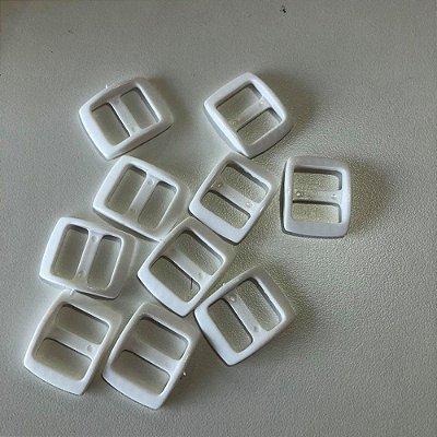 Regulador de alça PVC 15mm (10 unidades) Branco