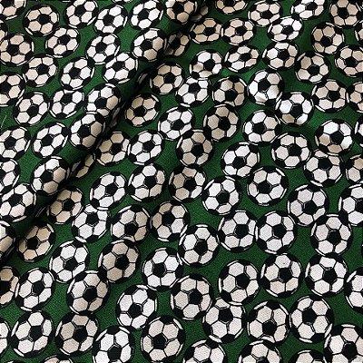 Tecido Bola de Futebol Verde