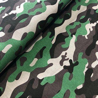Tecido Camuflado Verde