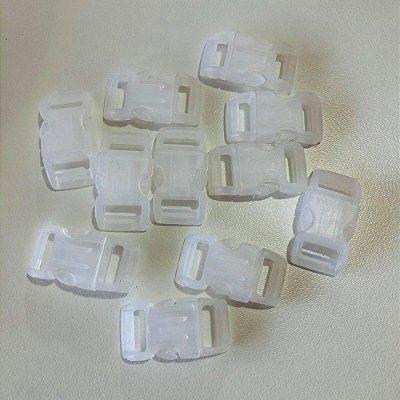 Fecho PVC 15mm (10 unidades) Branco