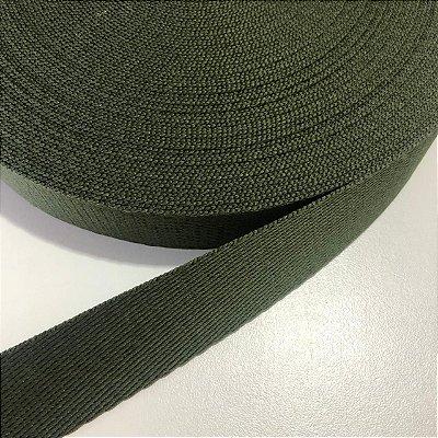 Alça de Poliéster 3cm Verde Musgo