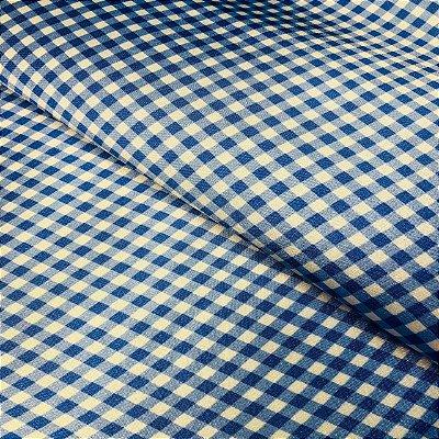 Cetim Dublado Xadrez Azul
