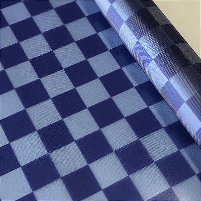 Vinil Translúcido 0,4 Xadrez Marinho e Azul Bebê