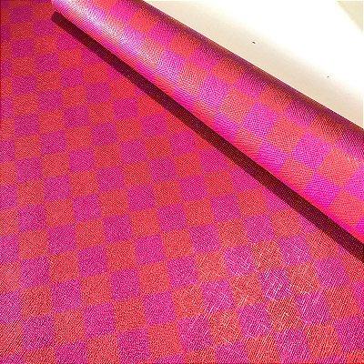 Rustic Xadrez 0,8 Pink e Vermelho