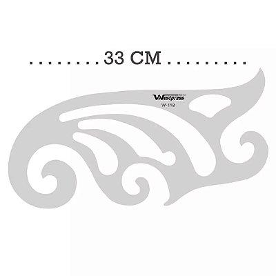 Régua Curva Francesa 33cm x15cm