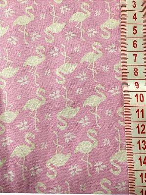 Tecido Flamingos Rosa - cor 1552