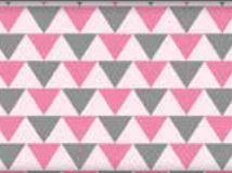 Tecido Triângulos Rosa - Cor 1815