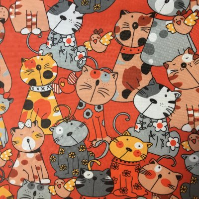 Tecido de Poliéster 420 - Gatos