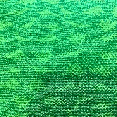 Tecido Dinossauros Verde - Cor 2015