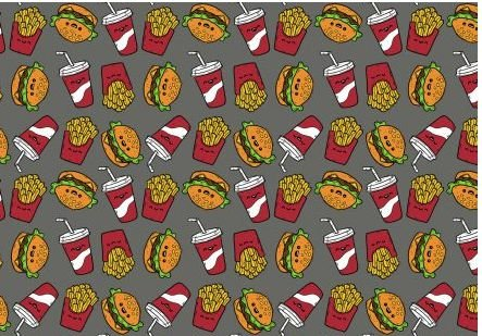 Tecido Fast Food - Cor 1694