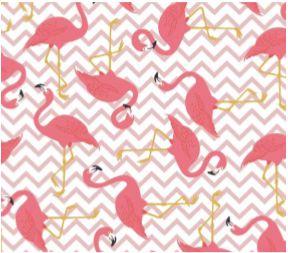 Tecido Flamingos Chevron - Cor 2110