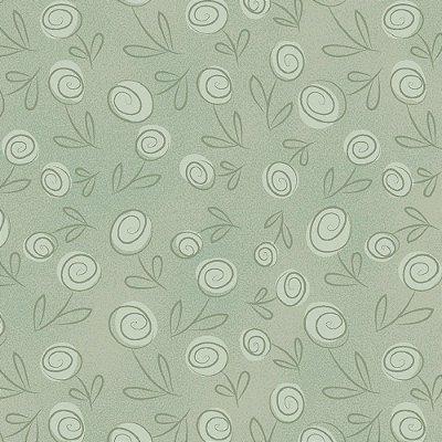 Tecido Floral Doodle Pistache