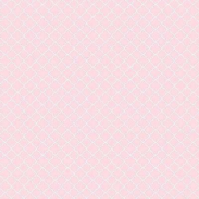 Tecido Mini Vitral Rosa Claro