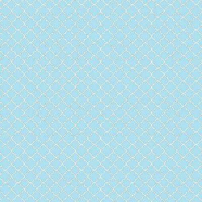 Tecido Mini Vitral Azul Claro