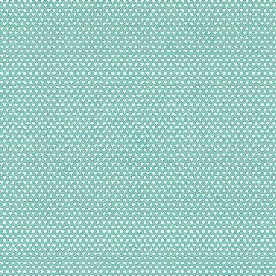 Tecido Mini Corações Tiffany