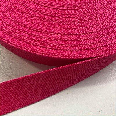Alça de Poliéster 3cm Pink