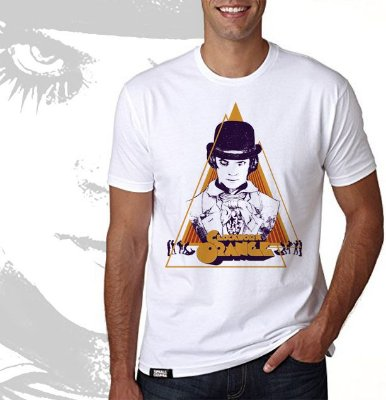 camiseta lisa - masculina - Laranja Mecânica