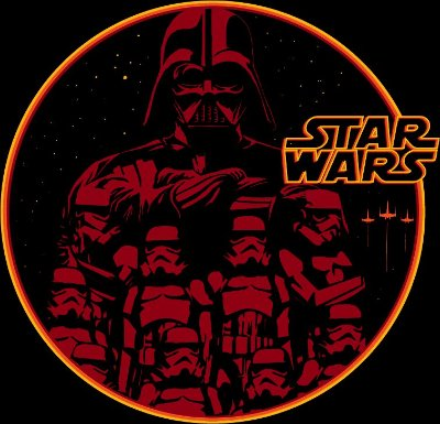 camiseta lisa -  masculina - Star Wars
