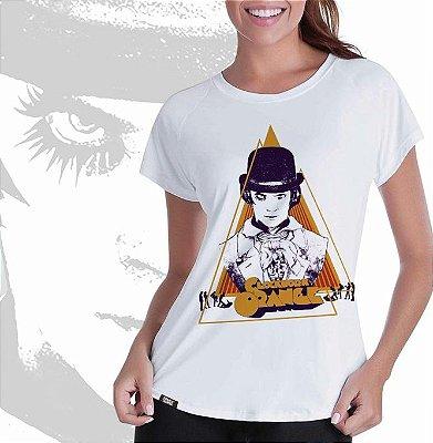 camiseta lisa - feminina - Laranja Mecânica