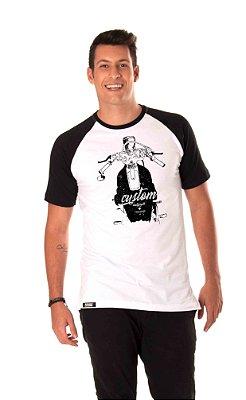 Camiseta raglam Longline - Maculino - Moto