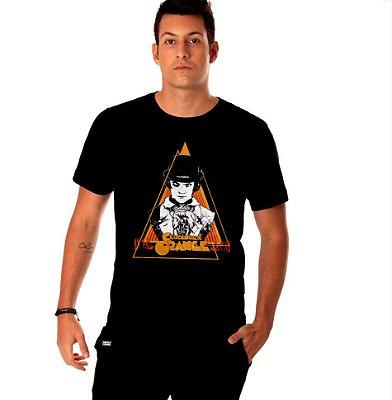 camiseta lisa - preta - masculina - Laranja Mecânica