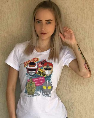 Camisetas super-heróis anos 80 - Feminina