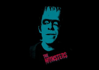 camiseta lisa preta feminina - The Munsters