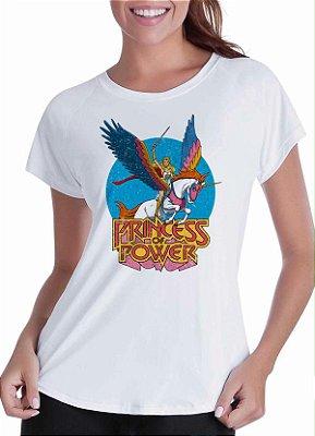 Camiseta branca - Feminina - She-ra