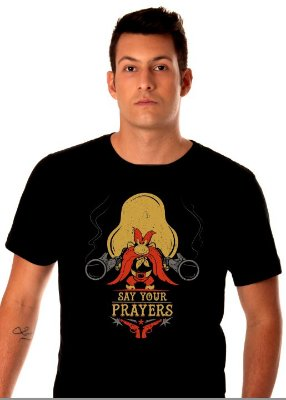 camiseta Preta - Masculina - Yosemite Sam