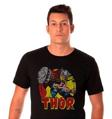 camiseta Preta - Masculina - Thor