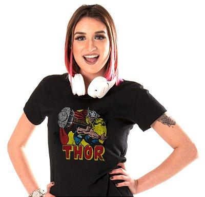 Camiseta Preta - Feminina - Thor