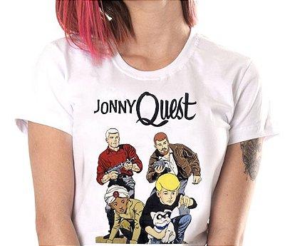 Camiseta branca - Feminina - jonny quest