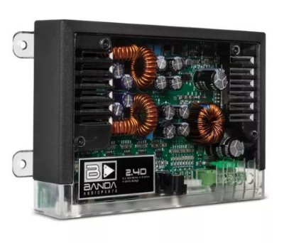 Módulo Amplificador Banda 400.4 400W RMS 2 Ohms 4 Canais Transparente
