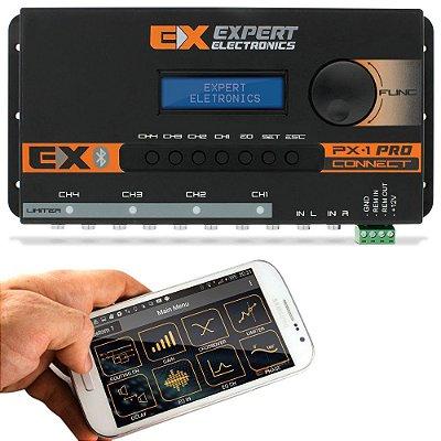 Crossover Expert PX1 Connect 4 Canais Processador de Áudio Digital Equalizador Bluetooth Banda