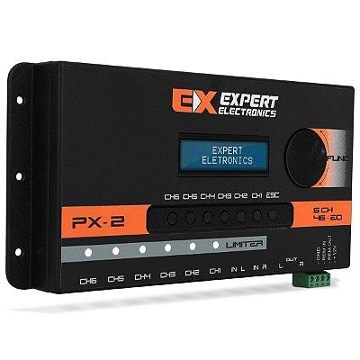 Crossover Expert Eletronics PX2 6 Canais Processador Áudio Digital 28 Frequências Equalização Banda