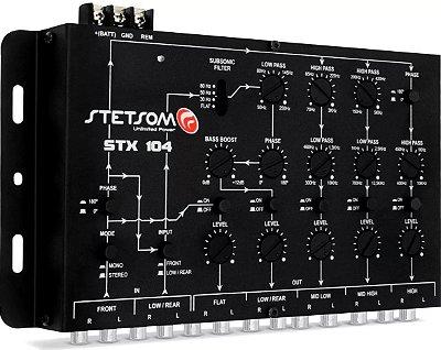 Crossover Stetsom STX104 2 Canais 5 Vias Saida RCA Mono Stereo