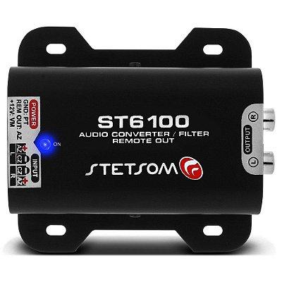 Adaptador Fio Conversor Remoto Auxiliar RCA Stetsom ST 6100 Filtro Anti Ruído